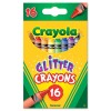 GLITTER CRAYONS, 16 COLORS/SET