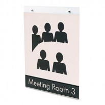 CLASSIC IMAGE SINGLE-SIDED WALL SIGN HOLDER, PLASTIC, 8 1/2 X 11, CLEAR