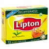 TEA BAGS, DECAFFEINATED, 72 BAGS/BOX