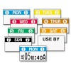 FRESHMARX FREEZX COLOR CODED LABELS, SATURDAY, WHITE, 2500 LABELS/ROLL