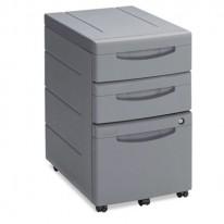 ASPIRA MOBILE UNDERDESK PEDESTAL FILE, RESIN, 2 BOX/1 FILE DRAWERS, CHARCOAL