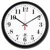 BLACK QUARTZ CONTRACT CLOCK, 13-3/4IN, BLACK