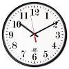 QUARTZ SLIMLINE CLOCK, 12-3/4IN, BLACK