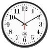 ATOMIC SLIMLINE CONTEMPORARY CLOCK, 12-3/4IN, BLACK