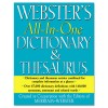 ALL IN ONE DICTIONARY/THESAURUS, HARDCOVER, 768 PAGES