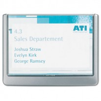 CLICK SIGN HOLDER FOR INTERIOR WALLS, 6 3/4 X 1/2 X 5 1/8, GRAPHITE