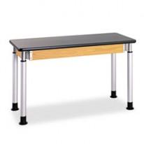 ADJUSTABLE-HEIGHT TABLE, RECTANGULAR, 48W X 24D X 27H, BLACK