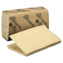1-FOLD PAPER TOWEL, 10-1/4 X 9-1/4, BROWN, 250/PACK, 16/CARTON