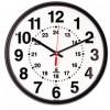 QUARTZ 12-24 HOUR WALL CLOCK, 12-3/4IN, BLACK, 1 AA BATTERY