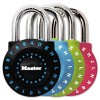 SET-YOUR-OWN COMBINATION LOCK, STEEL, 1 7/8