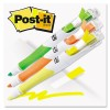 FLAG + HIGHLIGHTER, YELLOW/GREEN/ORANGE, 50 FLAGS/PEN, 3/PK