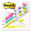 FLAG + HIGHLIGHTER, BLUE/YELLOW/PINK, 50 FLAGS/PEN, 3/PK
