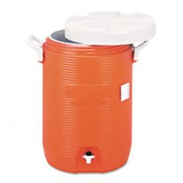 INSULATED BEVERAGE CONTAINER/WATER COOLER, ORANGE, 5 GALLON